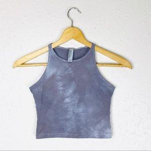 American Apparel Gray Tie Dye Crop Top S